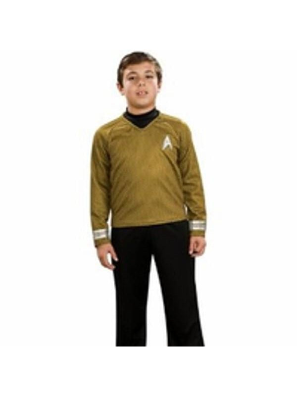 Child's Star Trek Deluxe Gold Shirt Costume-COSTUMEISH