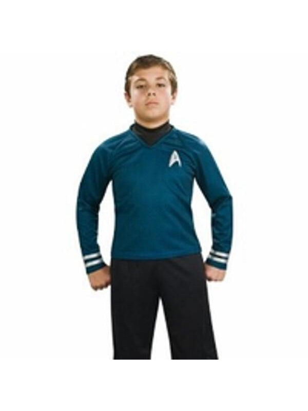 Childs Star Trek Deluxe Blue Shirt Costume-COSTUMEISH