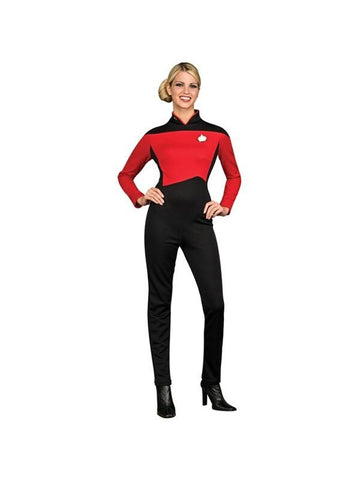Adult Star Trek Deluxe Red Jumpsuit Costume