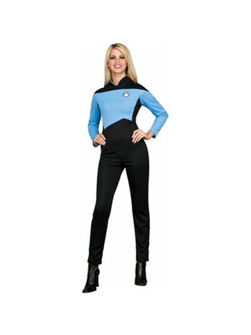 Adult Star Trek Deluxe Blue Jumpsuit Costume