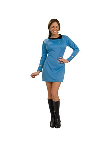 Adult Star Trek Deluxe Classic Blue Costume-COSTUMEISH