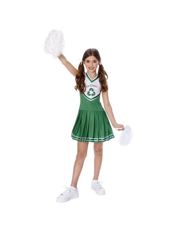 Child's Go Green Recycle Cheerleader Costume-COSTUMEISH