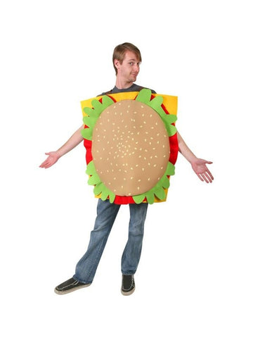Adult Hamburger Costume-COSTUMEISH