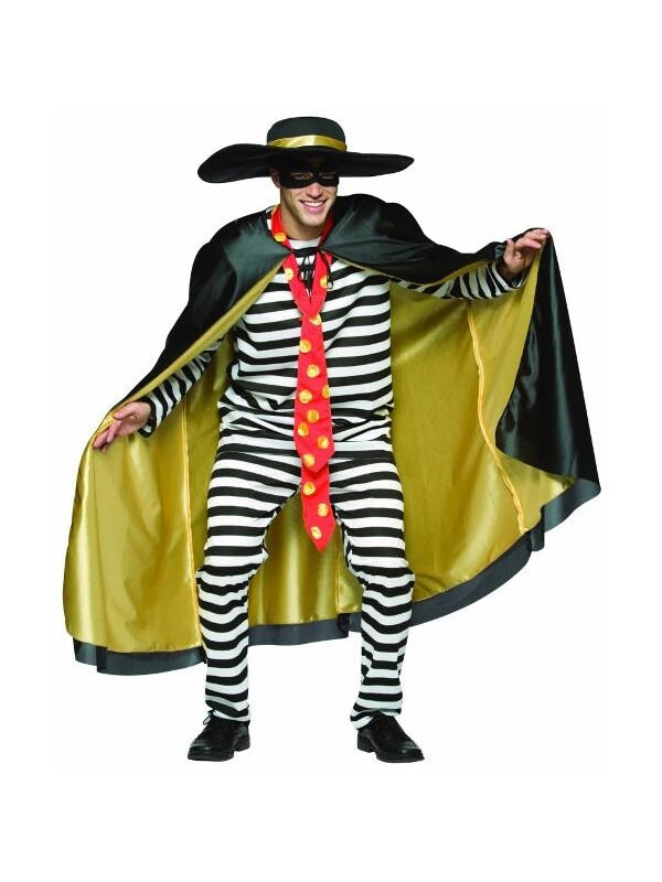 Adult Prison Hamburglar Costume-COSTUMEISH