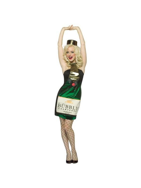 Adult Sexy Champagne Bottle Costume-COSTUMEISH