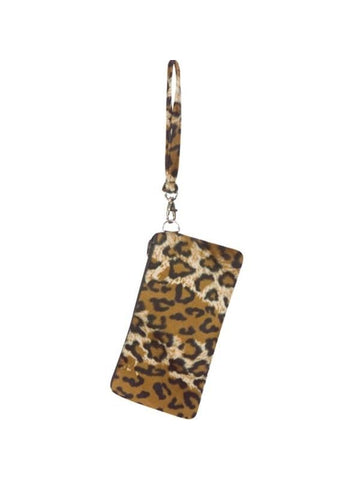 Adult Cheetah Wristlet Handbag