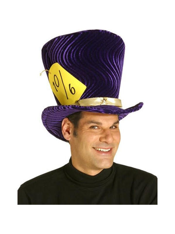 Adult Deluxe Alice Mad Hatter Costume Hat-COSTUMEISH
