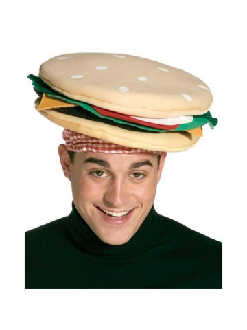 Adult Cheeseburger Costume Hat