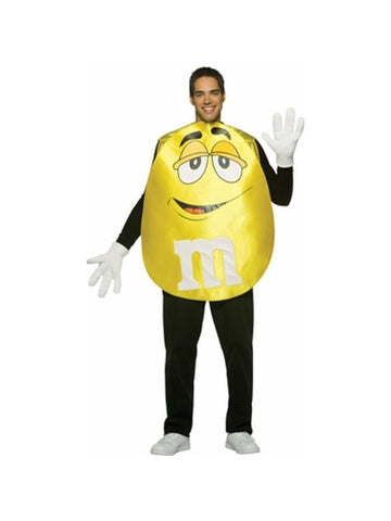 Adult M&M Yellow Pancho Costume