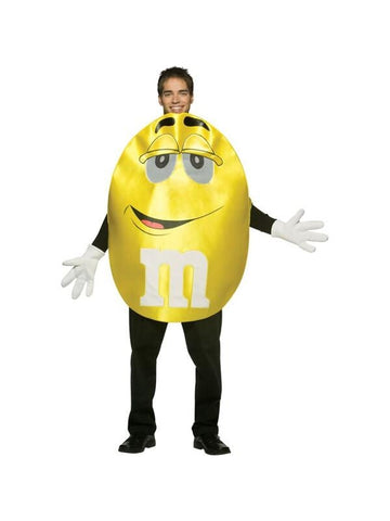 Adult Deluxe M&M Yellow Character Costume-COSTUMEISH