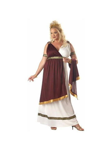 Adult Plus Size Roman Empress Costume-COSTUMEISH