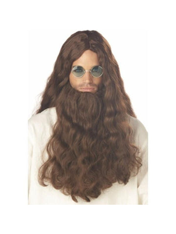 Men's Love Guru Costume Wig And Beard-COSTUMEISH