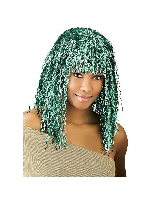 Green Tinsel Wig-COSTUMEISH