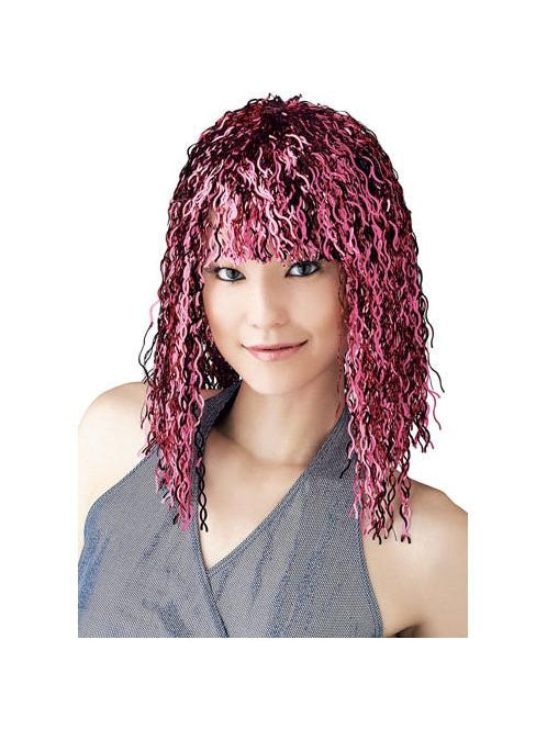 Pink Tinsel Wig-COSTUMEISH