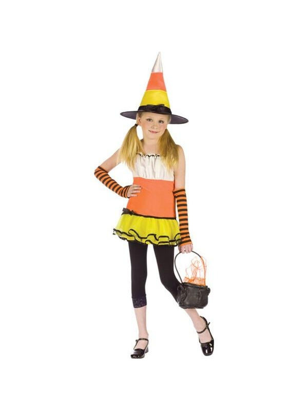 Teen Candy Corn Witch Costume-COSTUMEISH
