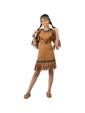 Childs Native American Indian Girl Costume-COSTUMEISH