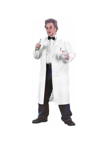 Adult Nutty Professor Lab Coat Costume-COSTUMEISH