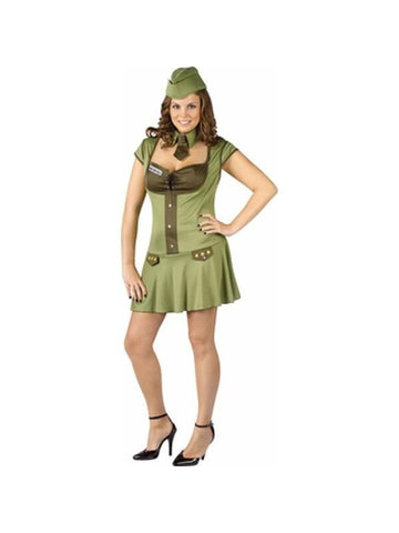Adult Plus Size Army Major Costume-COSTUMEISH