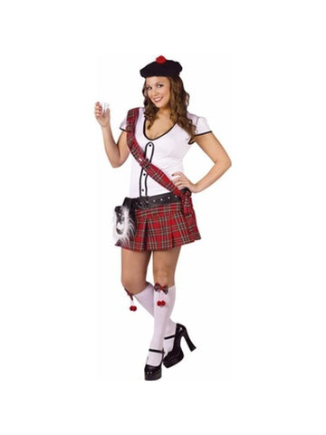 Adult Plus Size Sexy Scottish Shot Girl Costume-COSTUMEISH