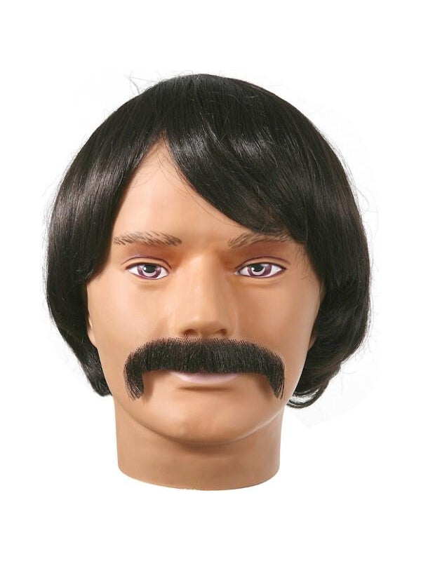 70's Costume Wig and Mustache Set-COSTUMEISH