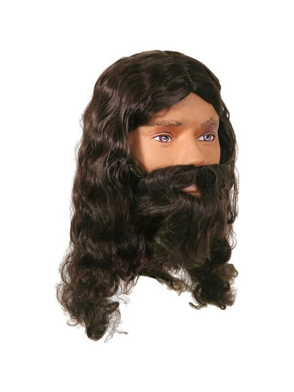Adult Jesus Costume Wig and Beard Set-COSTUMEISH