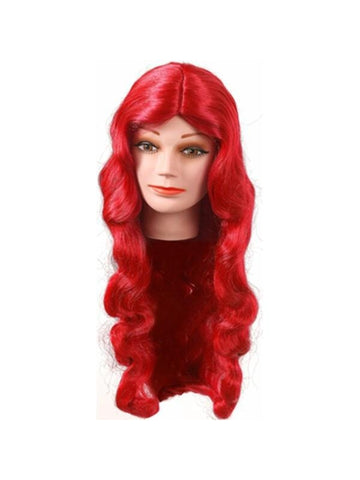 Red Deluxe Jessica Rabbit Wig-COSTUMEISH