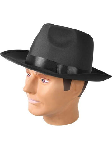 Adult Black Silk Gangster Hat