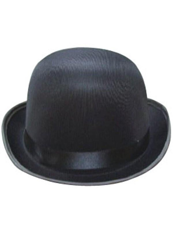 Adult Black Silk Derby Hat-COSTUMEISH