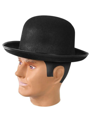 Adult Felt Black Derby Hat-COSTUMEISH