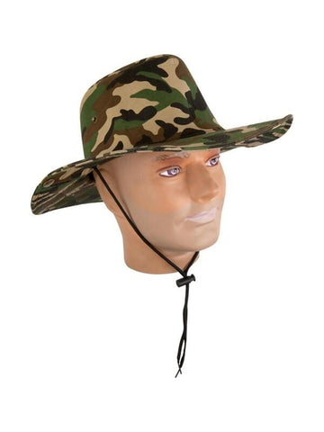 Adult Camo Bush Hat-COSTUMEISH