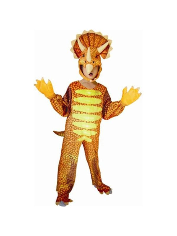 Toddler Red Triceratops Dinosaur Costume-COSTUMEISH