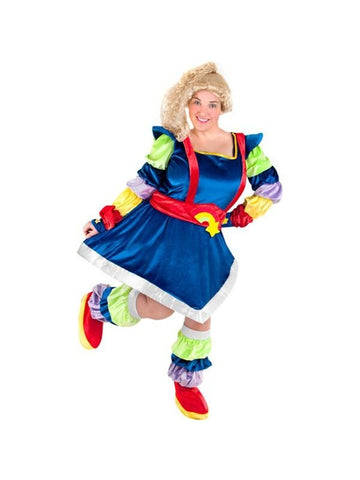 Adult Plus Size Rainbow Bright Inspired Costume-COSTUMEISH