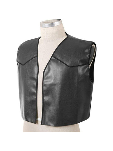 Black Costume Biker Vest-COSTUMEISH
