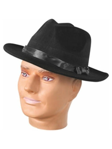 Adult Black Fedora Hat-COSTUMEISH