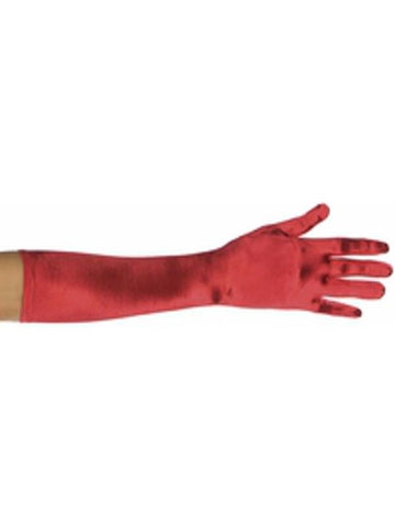 Adult Red Elbow Length Opera Gloves-COSTUMEISH
