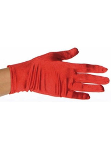 Child's Red Spandex Costume Gloves-COSTUMEISH