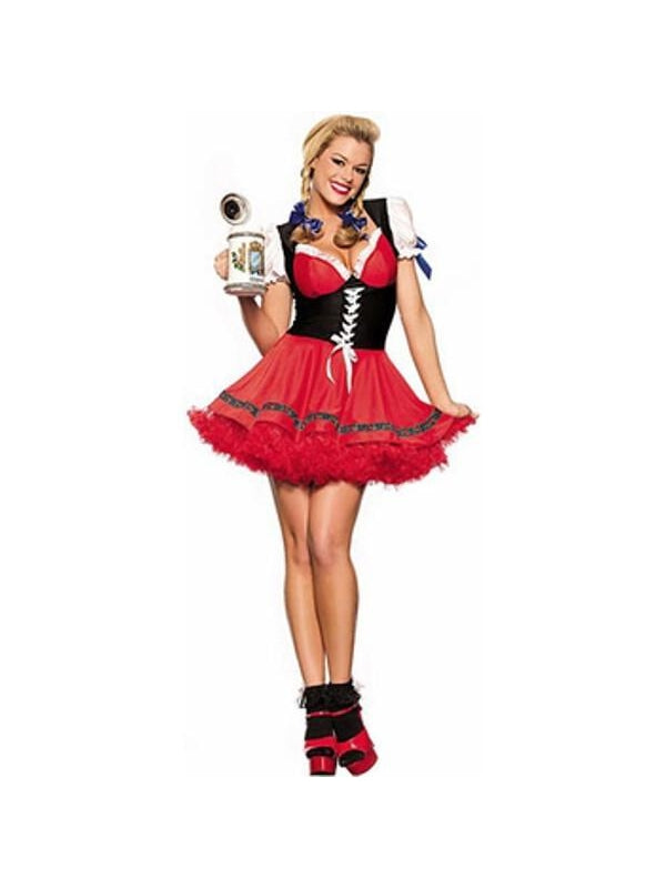 Adult Classic Bavarian Beer Girl Costume-COSTUMEISH