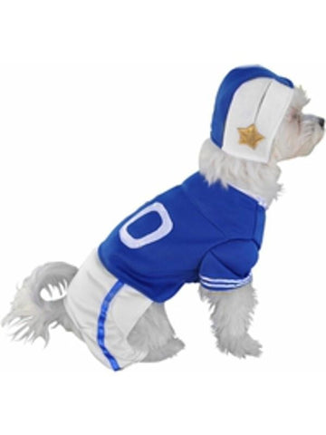 Blue Football Player Dog Costume-COSTUMEISH