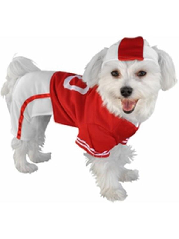 Red Football Player Dog Costume-COSTUMEISH