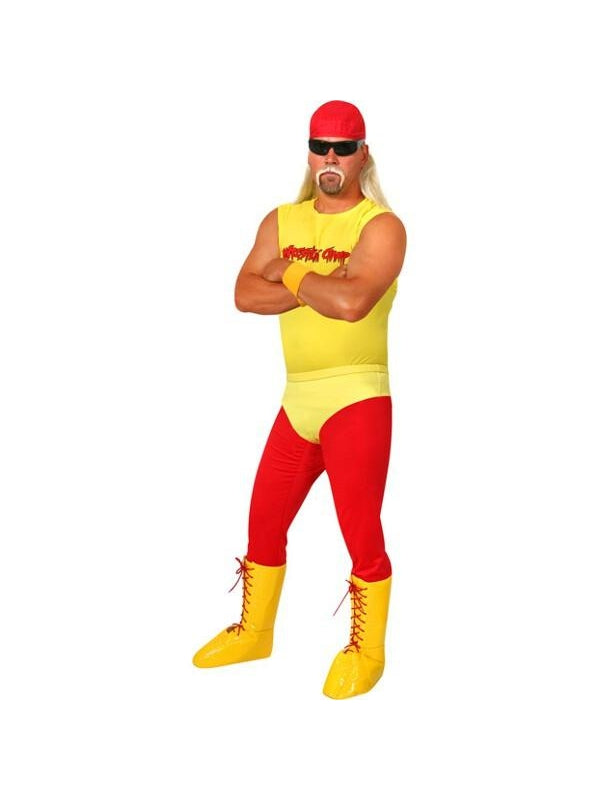 Adult 80's Wrestler Costume-COSTUMEISH