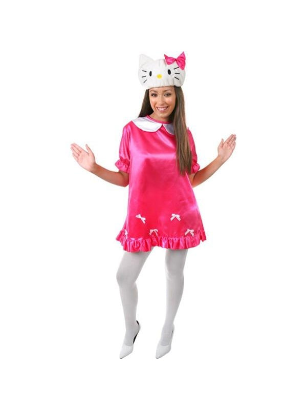 Adult White Kitty Costume-COSTUMEISH