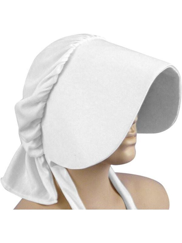 White Pioneer Bonnet-COSTUMEISH
