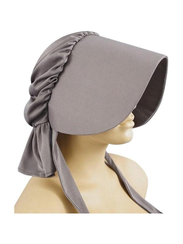 Grey Pioneer Bonnet-COSTUMEISH