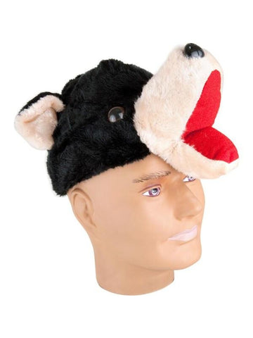 Velvet Black Bear Hat