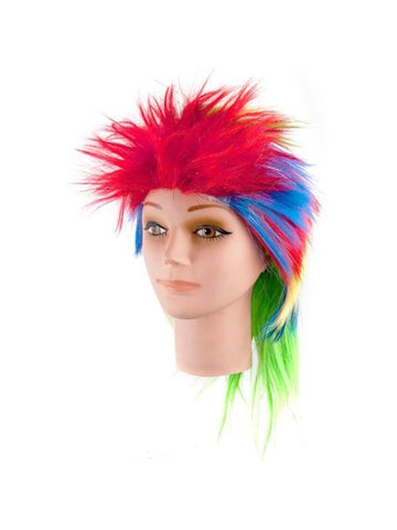 Multicolored Wig With Tinsel