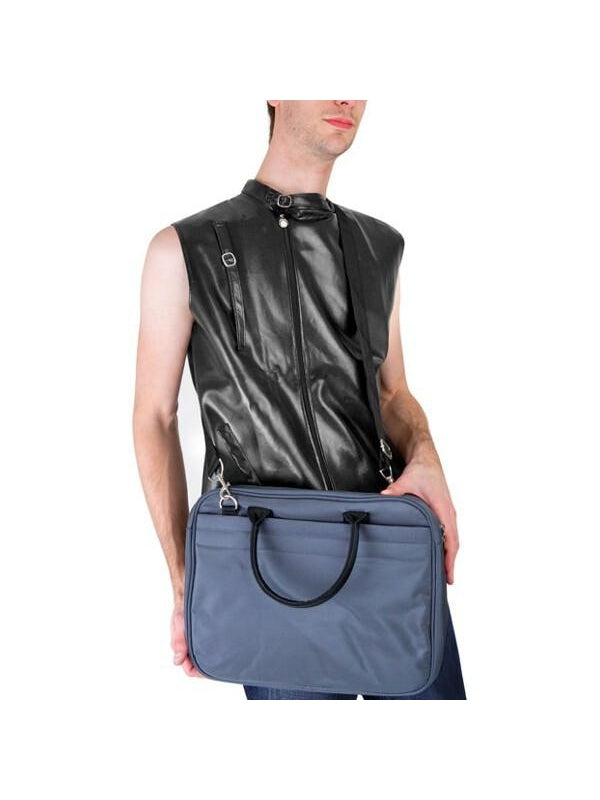 Grey Bruno Laptop Bag-COSTUMEISH