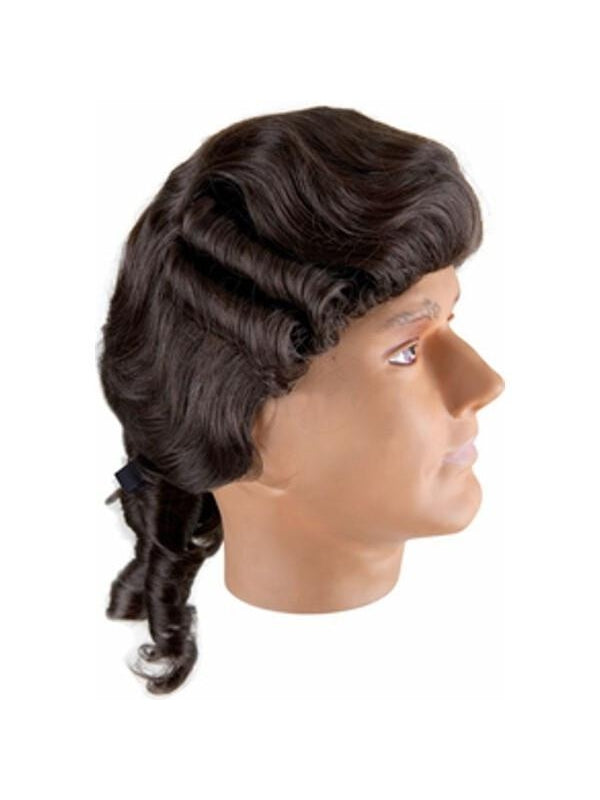 Adult Brown Colonial Man Costume Wig-COSTUMEISH