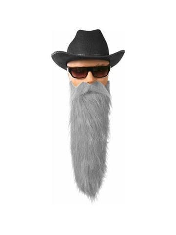 Adult Gray ZZ Costume Beard-COSTUMEISH