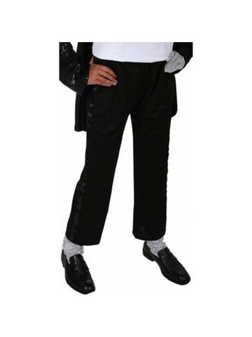 Adult King of Pop Black Tuxedo Pants