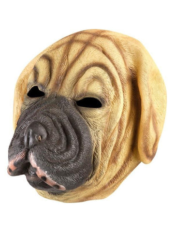 Mastiff Brown Dog Latex Mask-COSTUMEISH
